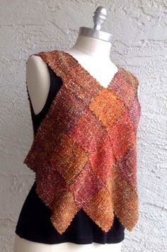 Zoom Loom Harlequin Vest from ZoZo Artwear by Lois Weaver. Made from Tempo by Filatura de Crosa.