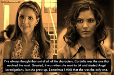 In many ways she was way more heroic than Buffy. She was willing to give up more to help fewer people, and in the end her selflessness and desire to help cost her everything.