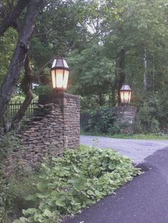 A really pretty driveway entrance in my neighborhood....