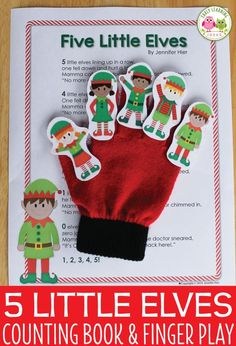 Here is a fun printable elf finger play rhyming activity for your circle time. A perfect addition to Preschool Christmas Activities, Preschool Themes, Literacy Activities, Toddler Christmas, Toddler Holidays, Christmas Crafts, Christmas Tree, Lesson Plans For Toddlers, Circle Time