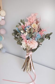 Spring Wedding Flowers, Wedding Cakes With Flowers, Flower Bouquet Wedding, Floral Wedding, Dried Flower Bouquet, Dried Flowers, Peonies Bouquet, Bride Bouquets, Bridesmaid Bouquet