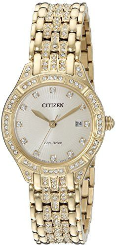 Citizen Womens EW232250P Silhouette Quartz Stainless Steel Casual Watch GoldToned >>> Visit the image link more details.