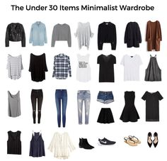 How to create a minimalist wardrobe with under 30 items. Fall Capsule Wardrobe & free printable check list to help you clean out your closet. lifegoalsmag.com