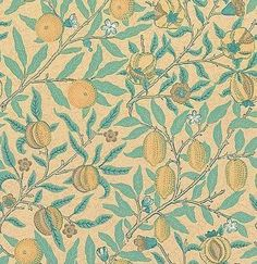 Fruit (WR8048/3) - Morris Wallpapers - A flat wallpaper that is suitable for most rooms. It is not however recommended for use in kitchens and bathrooms.