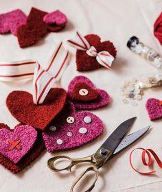 Valentine Decorations, Valentine Crafts, Beautiful Hearts, Gingerbread Ornaments, Raspberry Sorbet, Sheep And Lamb, Heart Crafts, Heart Ornament, Mini Heart