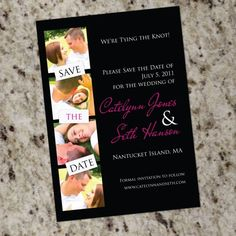 Save-the-Date Photo Strip Design YOUR COLORS - Printable Design