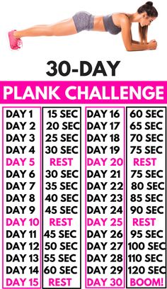The NEW Plank Challenge (TONE EVERY INCH!) Over people start the plank challenge every month. Because this plank workout is a real muffin top DESTROYER. If you want a flat belly. Fitness Workouts, Fitness Herausforderungen, At Home Workouts, Stomach Workouts, Yoga Workouts, Fitness Wear, 30 Day Plank Challenge, Weight Loss Challenge, Thigh Challenge