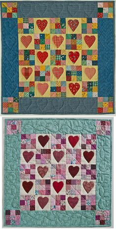 Heart's Delight: For a heartfelt Valentine's remembrance, create this quilt for someone special, then complete your design with hand-quilted hearts.