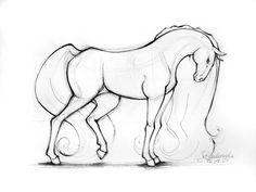 """horse by ~asiajunkieasia on deviantART"" Wonderful image of a horse"
