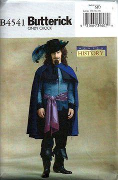 €15,- Mannen musketier kostuum patroon Butterick door DawnsDesignBoutique