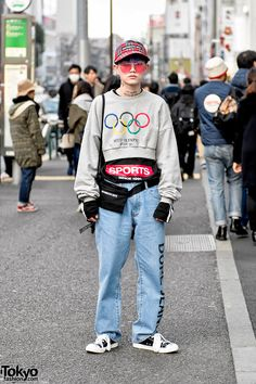 Hanseul Ha - creative director of the South Korean streetwear brand More Than Dope - on the street in Harajuku wearing fashion by More Than Dope and ESC Studio. Full Look Tokyo Street Fashion, Korean Street Fashion, Korea Fashion, Men's Fashion, Fashion Outfits, Fashion Ideas, Fashion Photo, Fashion Quotes, Fashion Black