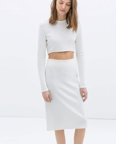 Image 2 of ASYMMETRIC CROP TOP from Zara