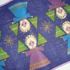 Retro Christmas danish textile table runner from INKA PRINT - 1970es. Material is jute.   #retro #danish #christmas #textile #1970 #dansk #jul #tekstil #bordloeber #inka #print SOLGT/SOLD on www.TRENDYenser.com