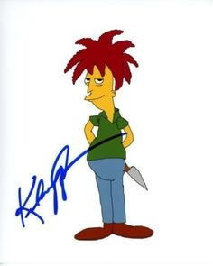 KELSEY GRAMMER signed autographed THE SIMPSONS SIDESHOW BOB photo (1)