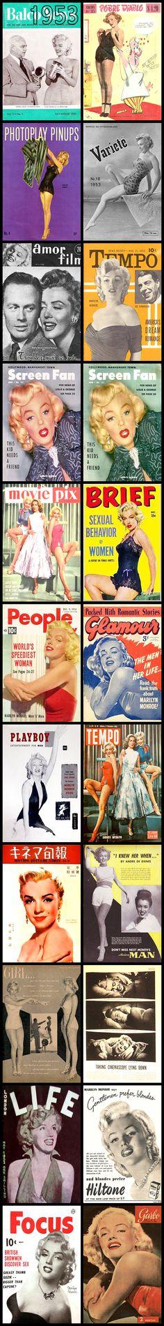 1953 magazine covers of Marilyn Monroe  .... #normajeane #vintagemagazine #pinup #iconic #raremagazine #magazinecover #hollywoodactress #monroe #marilyn #1950s