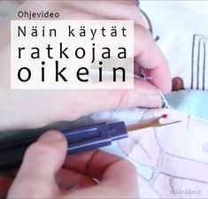 Ohjevideo: Näin käytät ratkojaa oikein Handicraft, Upcycle, Diy And Crafts, Sewing, How To Make, Inspiration, Inspire, Midget Man, Craft