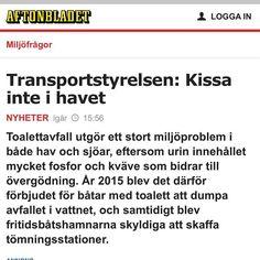#transportstyrelsen #kissa #havet #press #kisskanna #guldkannan #aftonbladet #toalett #miljöfarligt #hav #sjöar #övergödning #vatten