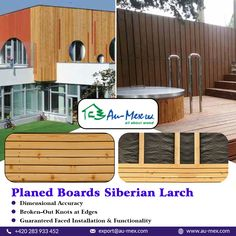 contains higher amount of resin which can seep through during stronger heating from the sun. Larch Cladding, Wooden Cladding, Wood Facade, Wood Plane, Resin, Deck, Outdoor Decor, Home Decor, Products