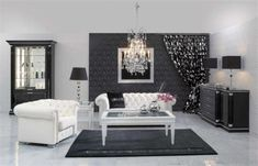 Modern White And Black Living Room Interior Design And Excellent Living Room Ideas With Contemporary Living Room Black Close Also Modern Living Room White . Black And White Living Room Decor, White Decor, Black Decor, Layout Design, Diy Design, Design Ideas, Sofa Design, Design Projects, Design Trends