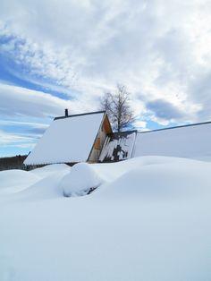 Chalet sous la neige à la Féclaz