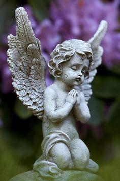 Little Angel Photograph Cherub Tattoo, Kali Hindu, Organic Roses, Angel Statues, Angel Art, Garden Statues, Cupid, Sculpture Art, Landscape Paintings
