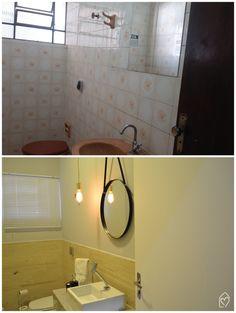 Diário de reforma do banheiro - antes x depois do banheiro escandinavo do #cdaoffice