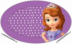 Sofia the First: Free Printable Candy Bar Labels.