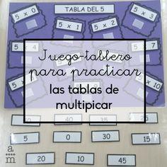 Aprende a hacer un juego-tablero para practicar las tablas de multiplicar. ¡Además podrás colgar en la clase para que todos las tengan presentes!