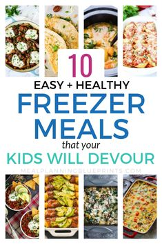 Easy + healthy freezer meals even if your kids are picky! I love freezer meals and I think they are the best way to save time in the kitchen. Its a bonus that these easy and healthy freezer meals are delicious for even the pickiest kids! Plus a free freezer meal planner printable!