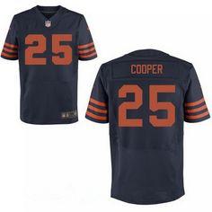 28b471e3ed9 Chicago Bears Joshua Bellamy Navy Blue With Orange Alternate NFL Nike Elite  Men's Jersey