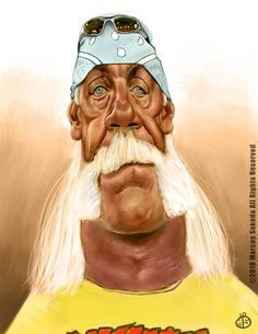 Hulk Hogan Caricature by ~Jubhubmubfub ^_^