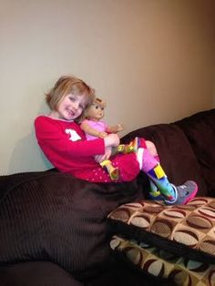 Great Steps O & P: Lauren's American Girl Doll Wear's AFO's Too!