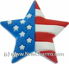 Patriotic Star Shoe Snap Charm Jibbitz Croc Style New Charms. Save 80 Off!. $0.99. A great way to show your style and personality.. Fun Shoe Charm.. Compatible with many clogs and wristbands.
