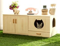 WHAT'S HOT: Incredible Cat Litter Furniture by Catwheel http://www.styletails.com/2016/04/15/whats-hot-incredible-cat-litter-furniture-by-catwheel/