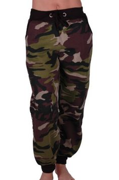 Eyecatch – Damen Casual Army Military Tarnung Sport Gym Jogger Jogging Damen Trainingshose – Styling Tipps
