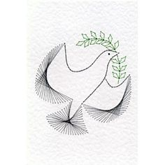 Christmas Dove at Stitching Cards - ePatterns for paper embroidery