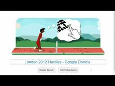 Who can improve on my personal best? :-)  Google Doodle for 2012 Summer Olympic Games in London - Hurdles