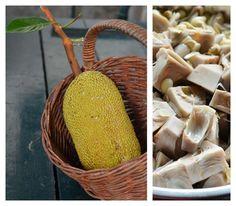 Indonesian Medan Food: Lontong Gulai Cubadak / Lontong Gulai Nangka Muda / Curried Jack Fruit Padang Style