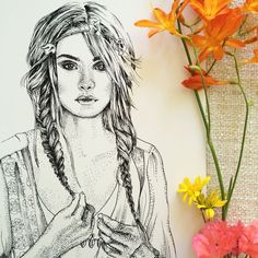 boho art - Google Search Bohemian Girls, Boho Girl, Girls Hand, Pointillism, Illustration Girl, Art Google, Line Drawing, Art Prints, Drawings