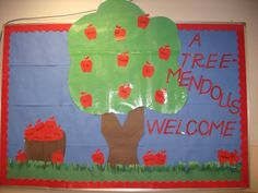 My September bulletin board from my K4 classroom...I do this every year!