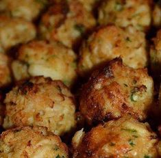 CRAB PUPPIES Place crabmeat in a mixing bowl Add crushed crackers, Old Bay Seasoning & parsley to the crab. In a separate bowl, combine egg, mustard, lemon juice and Worcestershire sauce. Whip with a whisk until smooth. Pour egg mixture over the crabmeat and crackers and mix. Form balls, bake 350 30 mins 1 lb.Crabmeat 1Egg 1cRitz Crackers, crushed 1 tsp.Yellow Mustard 2 tbsp.Lemon Juice 2 tbsp.Parsley 1tsp old bay 1tbsp worchestire  1 tsp. Old Bay Seasoning 1 tbsp. Worcestershire Sauce