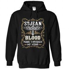 STJEAN - Blood  - #tshirt rug #college hoodie. TAKE IT => https://www.sunfrog.com/Names/STJEAN--Blood-5473-Black-56085542-Hoodie.html?68278