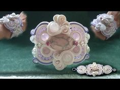 "Beading4perfectionists : ""Candywrapper"" stitch for Soutache beading tutorial part 1 of 5"