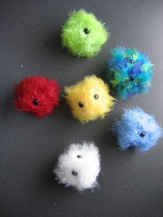 Pygmy Puff. These are super fast and easy to work up, and they're so cute and fluffy! You won't be able to resist ♥