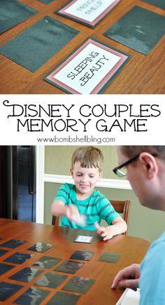 Family Adventure Series: Disney Couples Memory Game