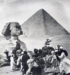 Tourists in Giza by  Unknown Artist