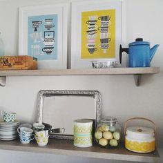 Arabia vintage coffee cups, Finel small Pehtoori and new Marimekko box Vintage Coffee Cups, Vintage Kitchenware, Marimekko, Finland, Retro Vintage, Enamel, Box, Furniture, Instagram