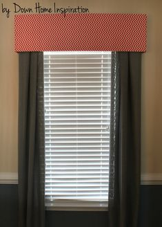 Renter Friendly, No Holes, No Damage $10 and 10 Minute DIY Window Valance - Down Home Inspiration For the dining room??