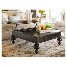 Dalton Coffee Table in Tobacco - lift top table