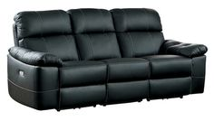 Homelegance Nicasio Contemporary All Genuine Leather Power Reclining Sofa - Home Furniture Design Faux Leather Sofa, Best Leather Sofa, Black Leather Sofas, Dark Brown Leather, Living Room Furniture, Home Furniture, Furniture Design, Sofa Home, Power Recliners